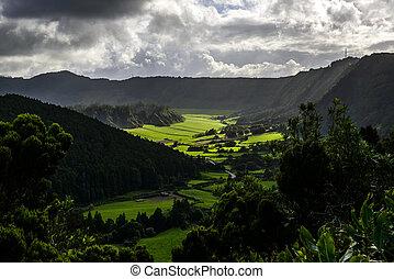 Sete Cidades, Sao Miguel island, Azores archipelago...