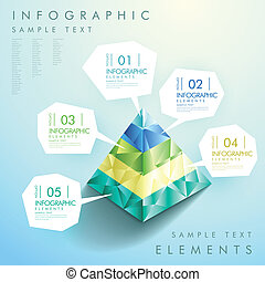 abstract pyramid infographics - modern vector abstract...