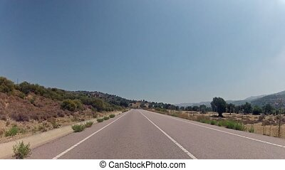 Fast driving on Cyprus roads time-lapse video
