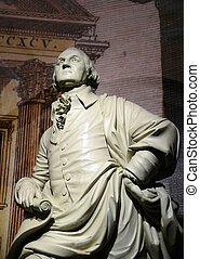 George Washington statue, the forefather of the United...