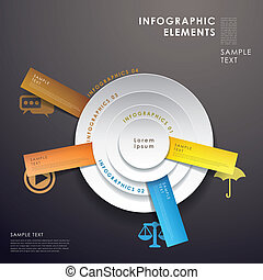 3d abstract pie chart infographics