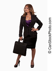 Attractive business woman - Full body of an attractive...
