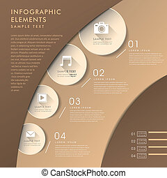 3d abstract chart infographics