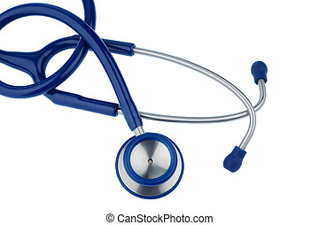 stethoscope against white background, symbol photo for the...