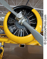 Propeller Plane - A closeup of the propeller.