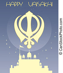 sikh greeting card - an illustration of a sikh greeting card...