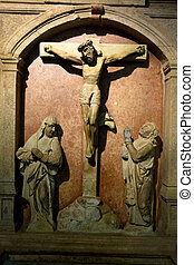jesus crucifixion. christ on the cross - a crucifixion scene...