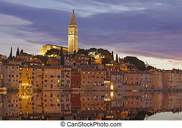 Rovinj at the sunset. Croatia.
