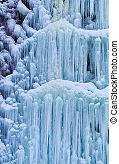 frozen waterfall in winter - a frozen from the cold...