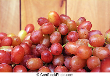 grape fruit -  a bunch of grape fruit on wooden background