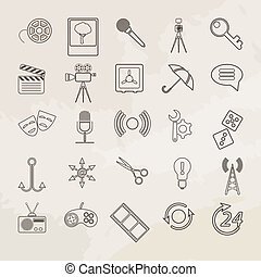Universal vector icon set.