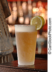 Cold Draft Beer - An ice cold draft beer in a chilled glass...