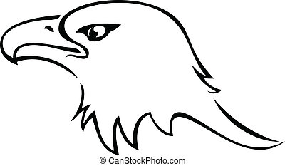 Eagle head silhouette logo - Eagle head silhouette icon...