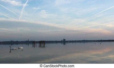 lake - beautiful lake sunrise