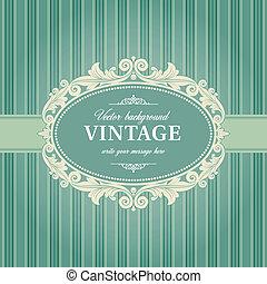 Vintage Background Frame Template Vector