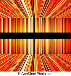 Abstract yellow and orange warped stripes
