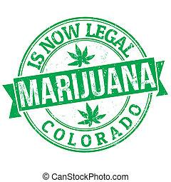 Marijuana, ora, legale, francobollo