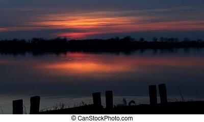 beautiful lake sunrise