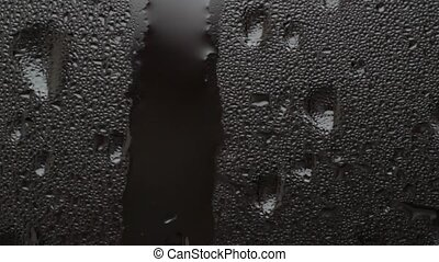 condensation - water drops over glass surface
