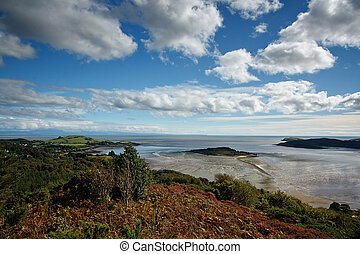 View from the Muckle over the Kippford estuary and across the So
