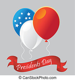 presidents day - three colored balloons for presidents day...