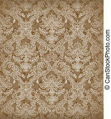 Decorative renaissance background - Decorative beige...