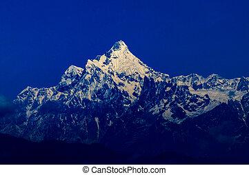 Kanchenjunga mountain peak, Sikkim - Magnificent view of...
