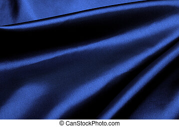 Blue silk background. - Luxury dark blue silk background.