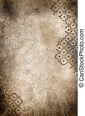 wall with cracks and rhombus - Grunge wall with cracks and...