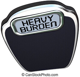Heavy Burden Scale Words Difficult Task Duty