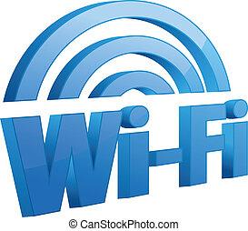 Blue wifi icon.