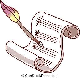 A manuscript paper