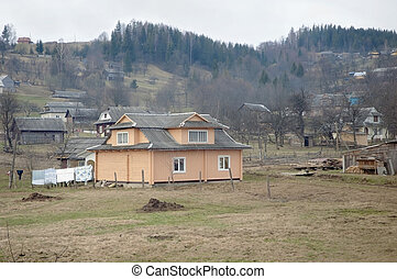 Life in the Carpathian mountains. - Village lifestyle in the...