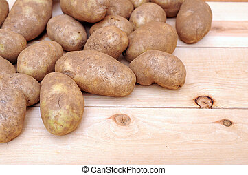 russet potato in market place