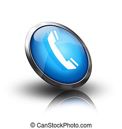 phone icon on a blue button
