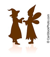 two halloween silhouettes