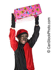 Black Piet from Holland - Girl is playing black Piet from...