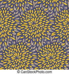 Splattered fireworks vector pattern - Seamless splattered...