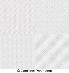 Embossed seamless patterns - 4 abstract embossed paper...