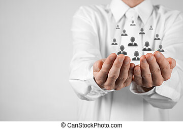 Customer or employees care concept - Customer care, care for...