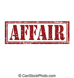 Affair-stamp - Grunge rubber stamp with word Affair,vector...