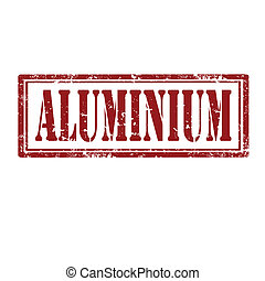 Aluminium-stamp - Grunge rubber stamp with word...