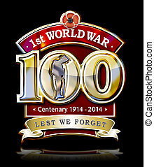 1st World War 100b - The First World Centenary graphic with...