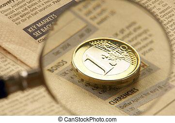 Coin  ?n a beige background