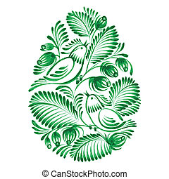 floral decorative ornament - hand drawn illustration in...
