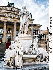 statue in Berlin - Beautiful squares in Berlin, the...