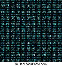 Repeating Blue Hexadecimal Background - Blue hexadecimal...
