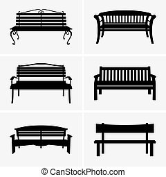 Benches - Set of six Benches