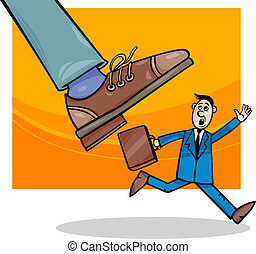 corporations and small business cartoon - Cartoon Concept...