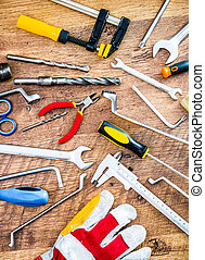 tools and instruments - variety of tools for home repairs